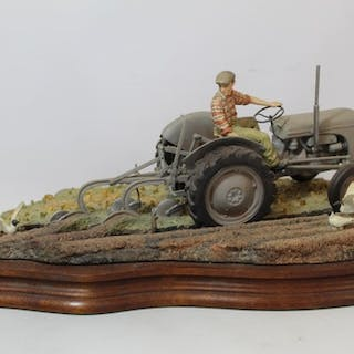 """Border Fine Arts """"The Fergie"""" (Tractor Ploughing), no. JH64,..."""