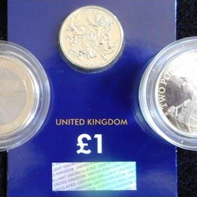 United Kingdom. (3) Two pounds. 2017. First World war Aviati...