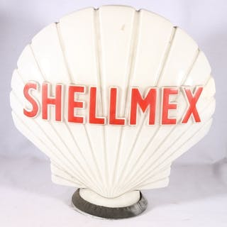 Shellmex petrol pump glass globe of scallop shell shape by H...