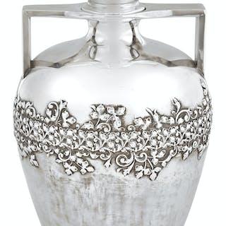 George Shiebler Sterling Silver Amphora-Form Vessel