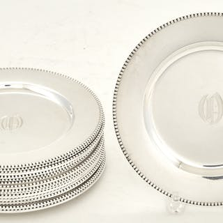 Set of Sixteen American Sterling Silver Bread Plates