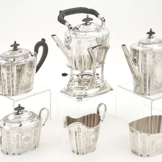Gorham George III Style Sterling Silver Tea and Coffee Service