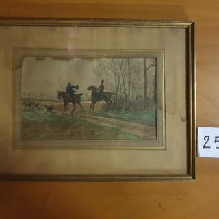 CRAFTY (c.1840-1906) La chasse à courre....