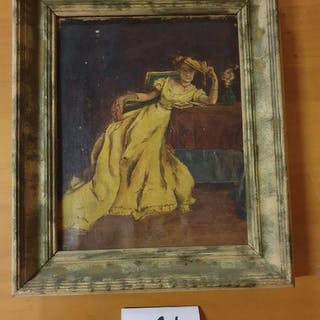 Ecole française du XIXème siècle Femme au...