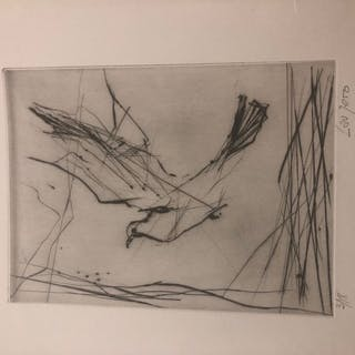 Albert LAUZERO (1909-2006) La colombe. Lithographie....