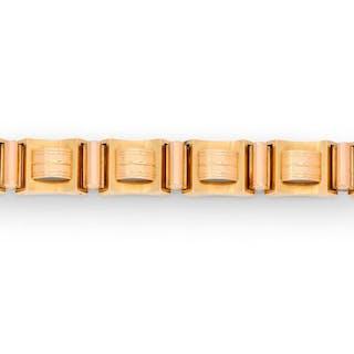 Bracelet tank en or jaune 18K (750/1000)...