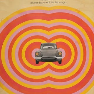 CITROËN DS Affiche originale Paris, Delpire,...