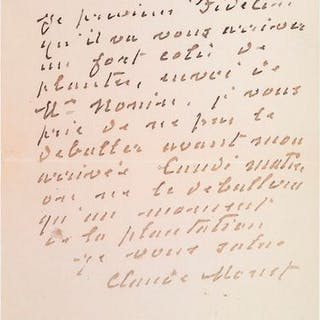 MONET (Claude). 1840-1926. Peintre impressionniste