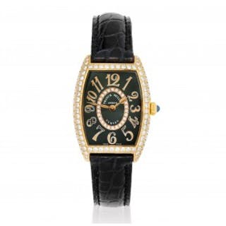A Lady's Diamond and Gold Wristwatch, Franck Muller