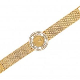A Lady's Gold 'Happy Diamonds' Wristwatch, Chopard