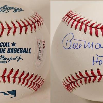 Bill Mazerowski Autographed Baseball (100297)