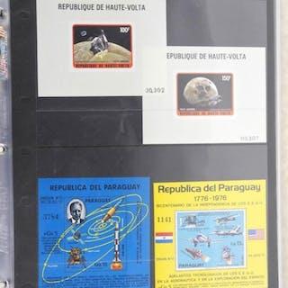 Lot of 4 Stamps - Republique de Haute Volta, Republica Del Paraguay