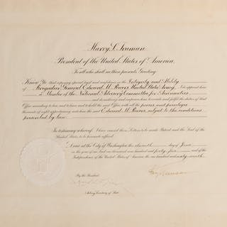 Truman, Harry S. Document signed as President, , 11 June 1945.