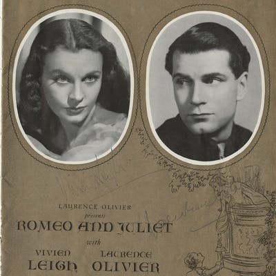 Vivien Leigh And Sir Laurence Olivier Signed Cover And 2