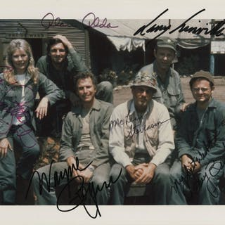 M*A*S*H (2) signed photographs.