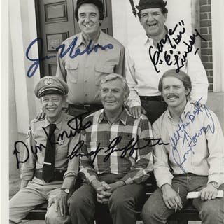 Classic sitcoms (6) signed photographs from All in the Family, Taxi
