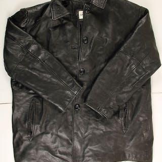 9894be5a06d6 Men's Black Leather Car Coat (76233)
