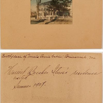 Hand-colored Photograph of Harriet Beeecher Stowe's Residence (67081)