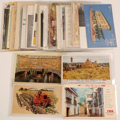 Postcards with Ad's (105440)
