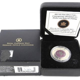 .9999 Fine Silver Coin $5.00 'Mother and Baby Ice