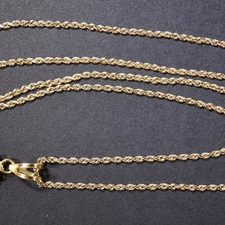 """20"""" 14K GOLD CHAIN WITH BEZEL"""