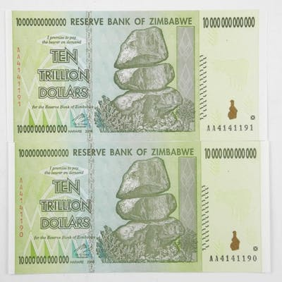 Reserve Bank Of Zimbabwe Ten Trillion