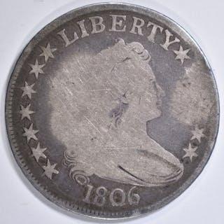 1806 BUST HALF DOLLAR F
