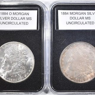 1884 & 1884-O MORGAN DOLLARS BU