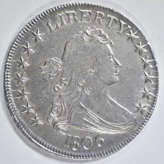 1806 BUST HALF DOLLAR, AU/BU NICE!