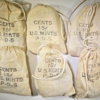 6-BAGS FROM U.S. MINT P-D-S COINS 1973: