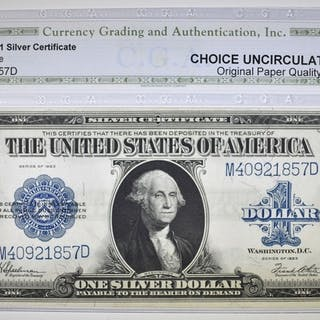 1923 $1 SILVER CERTIFICATE CGA CH UNC OPQ
