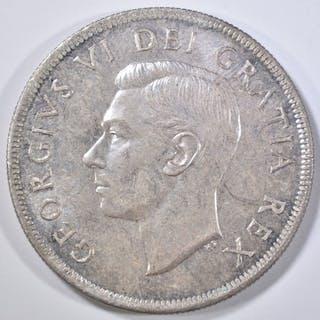 1950 SILVER DOLLAR CANADA GEM BU