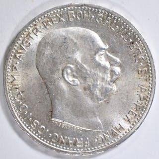 1914 SILVER CORONA KING FRANZ JOSEPH I AUSTRIA