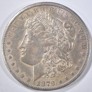 1879-CC CAPPED DIE MORGAN DOLLAR AU