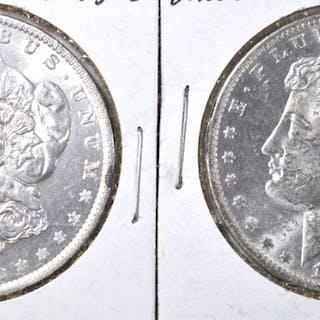 2 1883-O MORGAN DOLLARS CH BU