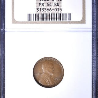 1926-S LINCOLN CENT, NGC MS-64 BN