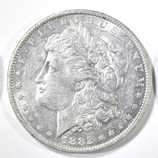 1881-O,S & 82-O MORGAN DOLLARS AU/BU