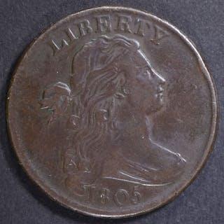 1805 LARGE CENT XF/AU