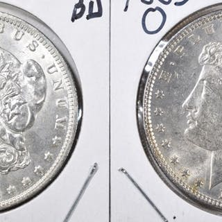 1885-O & 1885 BU MORGAN DOLLARS