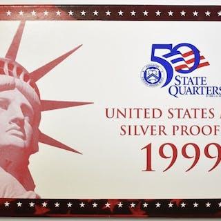 1999 U.S. MINT SILVER PROOF SET W/ COA