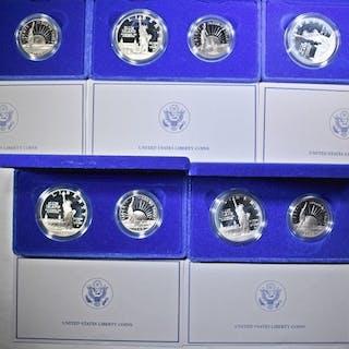 5-1986 2-COIN PROOF LIBERTY COMMEM SETS