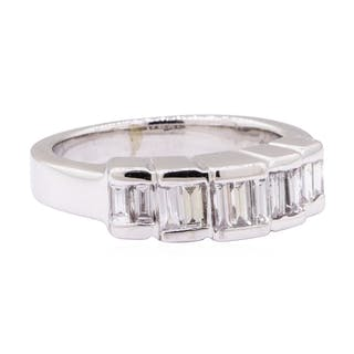 0.80 ctw Diamond Band - 14KT White Gold