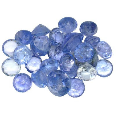 17.085 ctw Round Mixed Tanzanite Parcel