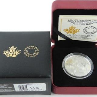 .9999 Fine Silver $10.00 Coin 'Anniversary WWI'