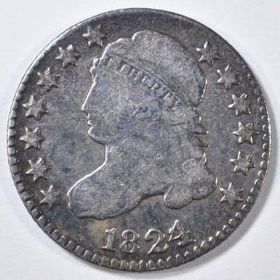 1824/2 BUST DIME VG