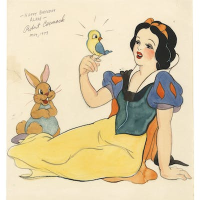 Original Snow White Drawing by Robert Cormack.