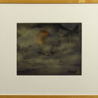 The Lion King Simba and Mufasa Cel & Background