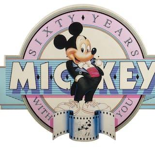 Mickey Mouse 60th Birthday Large Disneyland Sign.