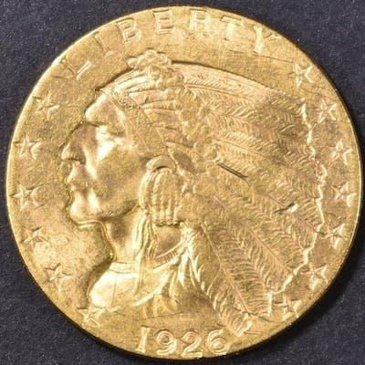 1926 $2.5 GOLD INDIAN HEAD AU