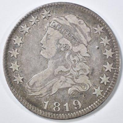 1819 BUST QUARTER VF
